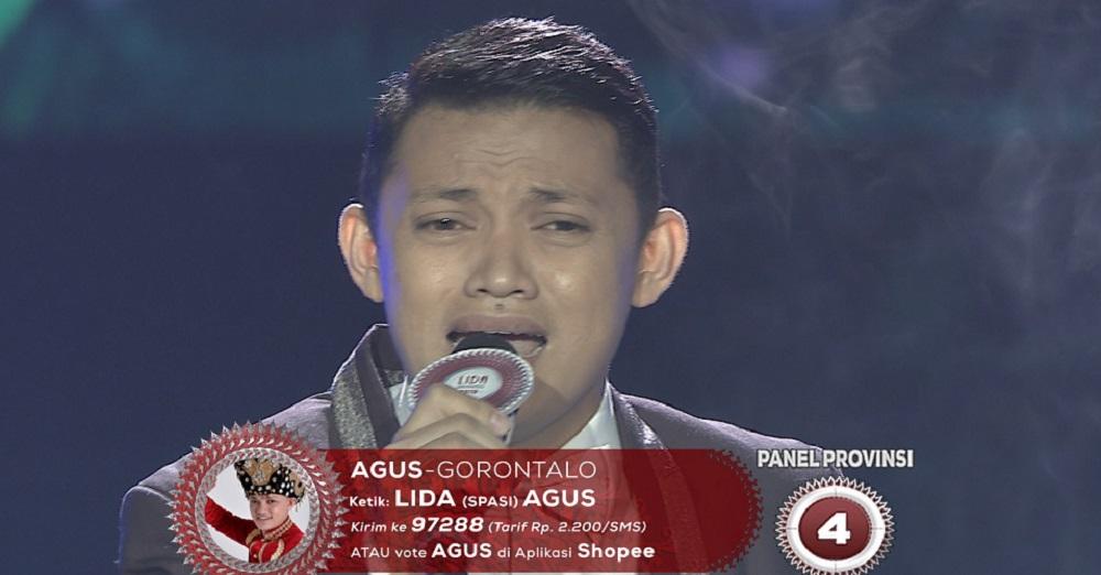 Lagu Tetes Air Mata, Agus (Gorontalo) Membuka Hati Dewan Juri