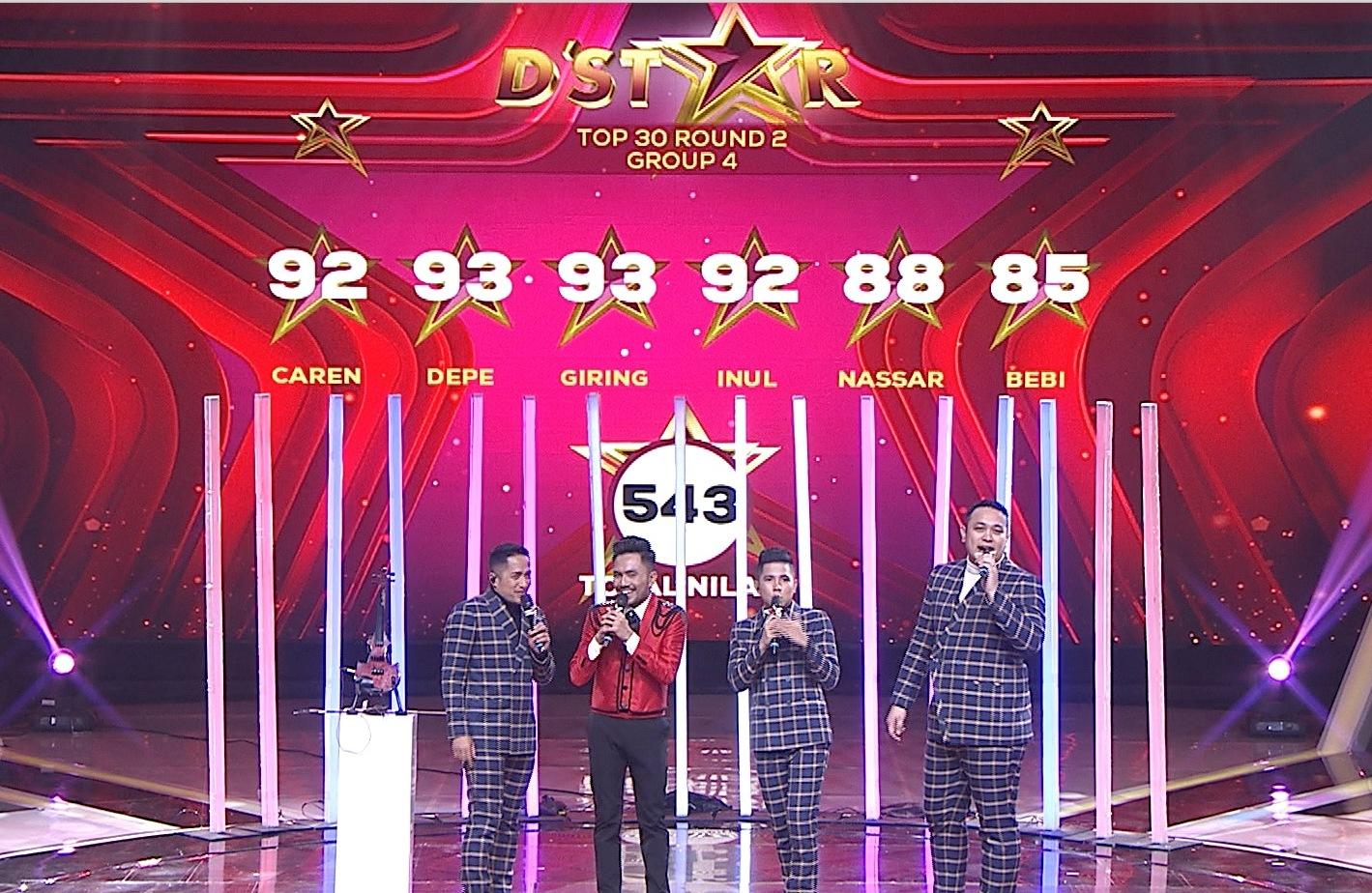 Habib Menempati Posisi Pertama Pada Panggung D'Star Top 30 Round 2 Group 4