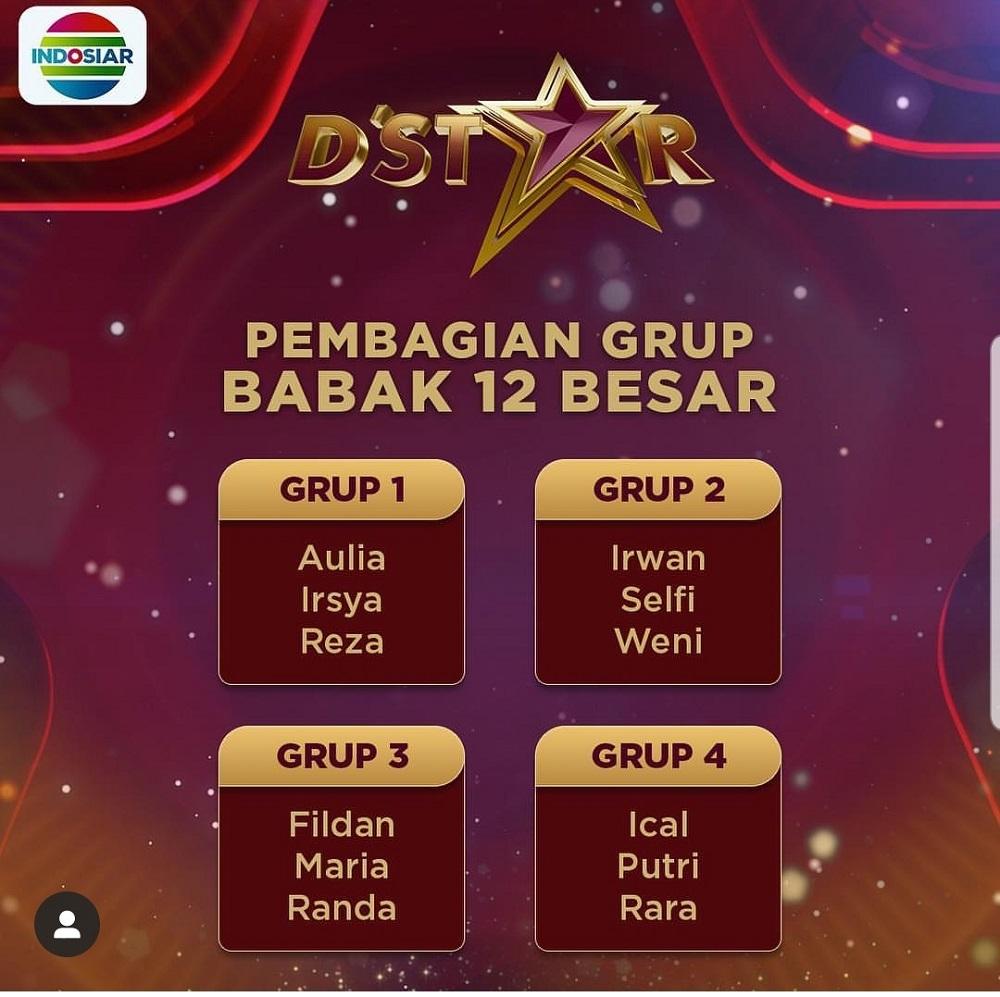 Pembagian Group D'Star Babak 12 Besar