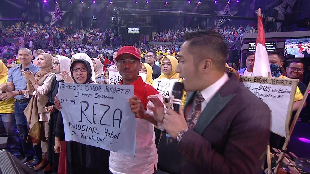 Demi Menyaksikan Reza di Studio 5 Indosiar, Fans Ini Rela Mengayuh Sepeda Dari Brebes