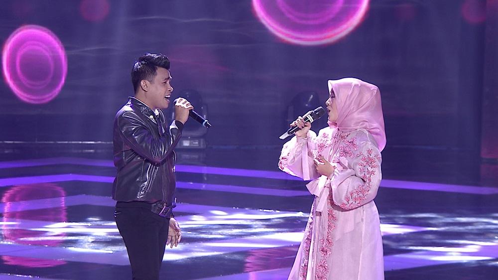Duet romantis Fildan DA dan Rana (Sumatera Barat) berhasil memukau penonton.