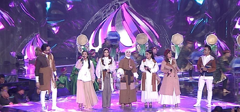 "Reza DA, Aulia DA, Rara LIDA, Lesti DA, Putri DA, Selfi LIDA & Fildan DA Bawakan Theme Song ""Ramadan Berkah"" Indosiar-1"