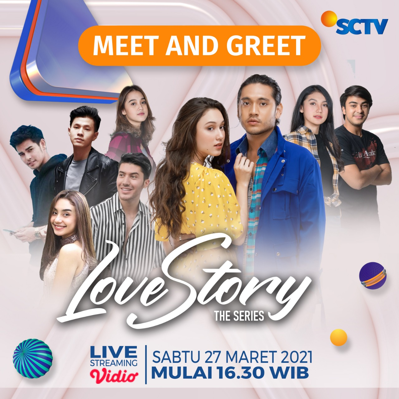 e-flyer Meet and Greet 'Love Story The Series' (27 Maret 2021)